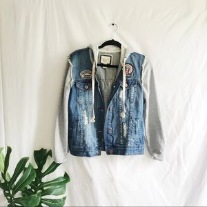 Vintage Style Jean And Sweatshirt Jacket Patches